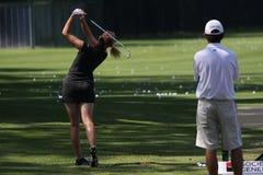 Den Paula creameren på golf Evian styrer 2012 arkivbilder