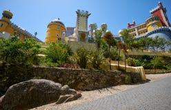 Den Pena slotten Sintra portugal royaltyfria bilder