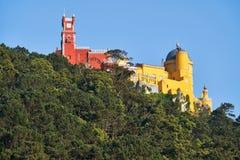 Den Pena slotten Sintra portugal arkivbild