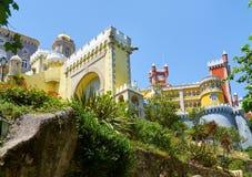Den Pena slotten Sintra portugal fotografering för bildbyråer