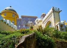 Den Pena slotten Sintra portugal arkivbilder
