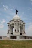 Den Pennsylvania minnesmärken i Gettysburg den nationella militären parkerar royaltyfria foton