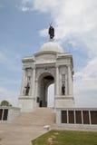 Den Pennsylvania minnesmärken i Gettysburg den nationella militären parkerar Arkivbilder