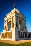 Den Pennsylvania monumentet i Gettysburg, Pennsylvania Royaltyfria Foton