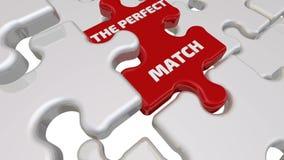 Den perfekta matchen Inskriften på den saknade beståndsdelen av pusslet