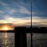 Den perfekta natten för att fiska Arkivfoton