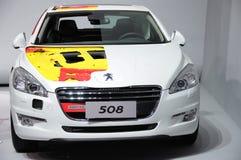 Den Peugeot 508 bilen beklär Fotografering för Bildbyråer
