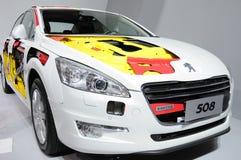 Den Peugeot 508 bilen förkroppsligar Royaltyfri Fotografi