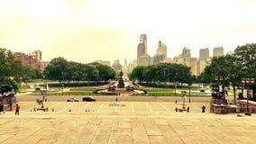 Den Philadelphia staden May soligt arkivfoto