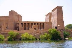 Den Philae templet på Aswan, Egypten Arkivbilder