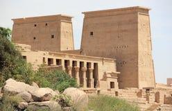 Den Philae templet, på den Agilkia ön egypt fotografering för bildbyråer