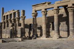 Den Philae templet på den Agilkia ön i sjön Nasser nära Aswan, E Arkivfoto