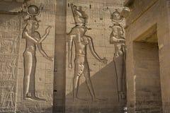 Den Philae templet på den Agilkia ön i sjön Nasser nära Aswan, E Royaltyfri Bild