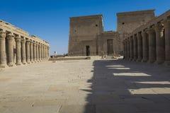 Den Philae templet på den Agilkia ön i sjön Nasser nära Aswan, E Fotografering för Bildbyråer