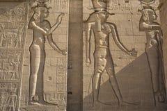 Den Philae templet på den Agilkia ön i sjön Nasser nära Aswan, E Arkivbilder