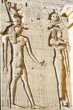 Den Philae templet på den Agilkia ön i sjön Nasser nära Aswan, Egypten Arkivfoto