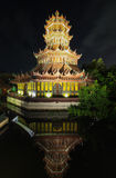 Den Phra Kaew paviljongen i forntida Siam, Samutparkan, Thailand Arkivfoto