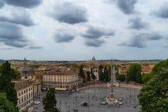 Den piazzadel Popolo fyrkanten arkivbild