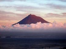 Den Pico vulkan Arkivbilder