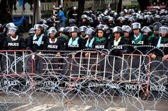Den Pitak Siam Anti-Regeringen samlar i Bangkok, Thailand Arkivbilder