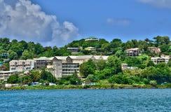 Den pittoreska ön av St Lucia i västra indies Royaltyfria Foton