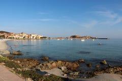 Den pittoreska kustlinjen av Corse, Frankrike Royaltyfri Fotografi