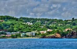 Den pittoreska ön av St Lucia i västra indies Arkivbild