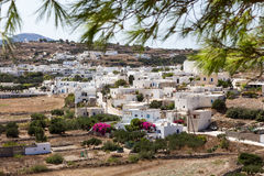 Den pittoreska staden av Milos ö, Cyclades, Grekland Royaltyfri Foto