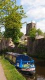 Den pittoreska staden av Skipton i England arkivbild