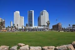Den pittoreska Tel Aviv invallningen Royaltyfri Foto