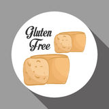Den plana illustrationen av gluten frigör design Royaltyfri Bild