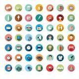 Den plana symbolen planlägger, symboler ställde in, app, mat, tecknad film Royaltyfri Fotografi