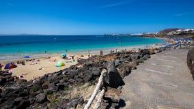 Den Playa Blanca-stranden Fotografering för Bildbyråer