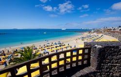 Den Playa Blanca-stranden Arkivbild