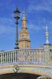Plazaen de Espana (Spanien kvadrerar), Seville, Spanien Royaltyfri Bild