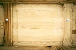 Den polerade wood ramen, kan användas som bakgrund Arkivbilder