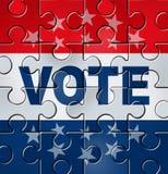 den politiska organisationen röstar Royaltyfri Bild