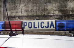 Den polska polisen undertecknar Arkivbild