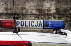 Den polska polisen undertecknar Fotografering för Bildbyråer