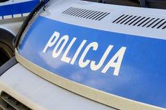 Den polska polisen undertecknar Royaltyfri Fotografi