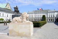 Den polska presidentpalatset i Wrasaw Royaltyfri Bild
