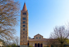Den Pomposa abbotskloster av Codigoro Fotografering för Bildbyråer