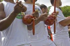 Den populära kampen och dansen kallade capoeira från Brasilien Fotografering för Bildbyråer