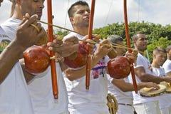 Den populära kampen och dansen kallade capoeira från Brasilien Arkivbilder