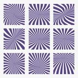 Den populära vektorsolen rays ultraviolett färg för bakgrund Sunburstmodell Populär färg 2018 år ultraviolet Det kan vara nödvänd Arkivfoton