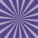 Den populära vektorsolen rays ultraviolett färg för bakgrund Sunburstmodell Populär färg 2018 år ultraviolet Det kan vara nödvänd Arkivbild