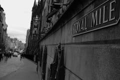 Den populäraste gatan i Edinburg Royaltyfri Fotografi