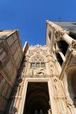 Den Porta dellaen Carta på dogeslotten i Venedig, Italien Arkivfoton
