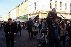 Den Portabello vägen marknadsför, London Arkivbild