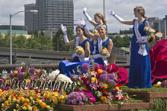 Den Portland Oregon rosen ståtar Royaltyfri Bild
